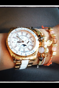 Guess Collection watch with a set of bracelets from Kmart