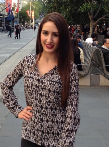 Details of my Fashion Friday outfit, Bourke Street Melbourne